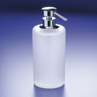 WINDISCH 90432M ADDITION FROZEN FROSTED CRYSTAL GLASS SOAP DISPENSER