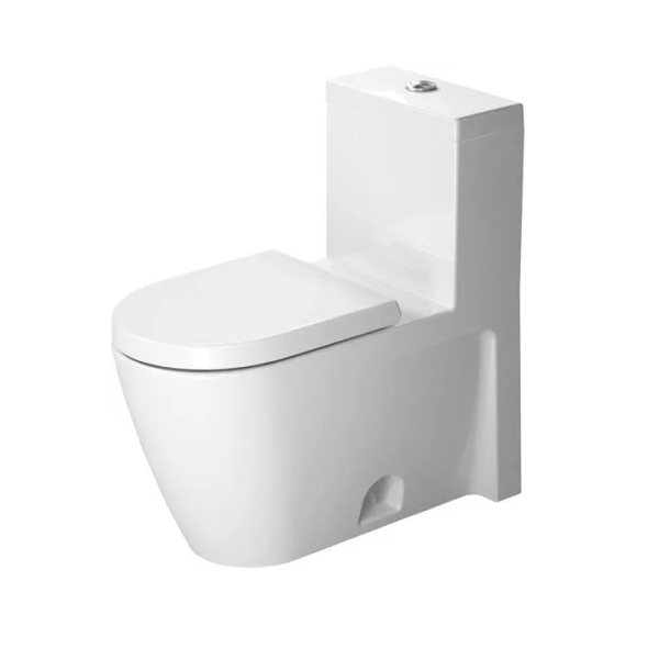 Duravit D1654700 Starck 2 1 28 Gpf One Piece Elongated Toilet With Top Flush Button Seat Included