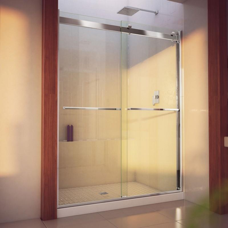 DREAMLINE SHDR-636076H ESSENCE-H 56-60 W X 76 H SEMI-FRAMELESS BYPASS SHOWER DOOR WITH CLEAR GLASS