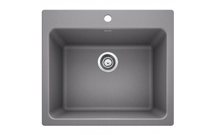 Blanco 401924 Liven Granite 25 Inch Laundry Sink in Metallic Gray
