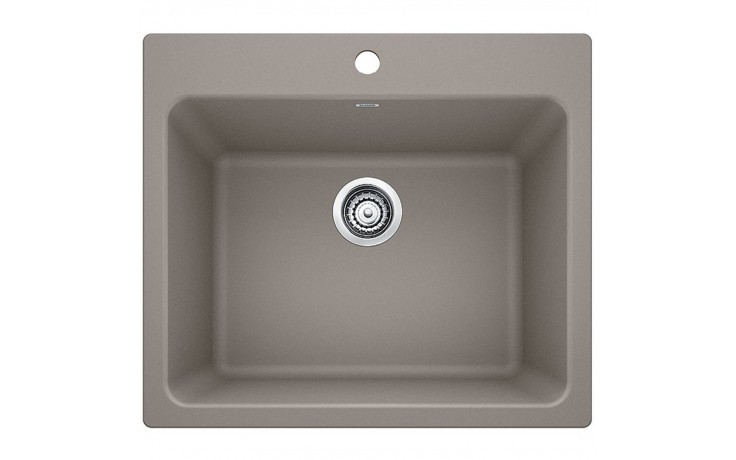 Blanco 401926 Liven Granite 25 Inch Laundry Sink in Truffle