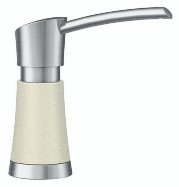 BLANCO 403800 ARTONA SOAP DISPENSER IN BISCUIT/STAINLESS DUAL FINISH STAINLESS STEEL