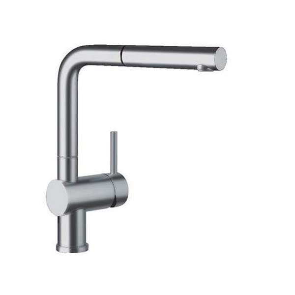 Blanco 441197 Linus Pull-Out, Swivel Single Hole Kitchen Faucet in Satin Nickel