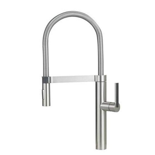 Blanco 441407 Culina Pull-Out, Swivel Single Hole Kitchen Faucet in Satin Nickel