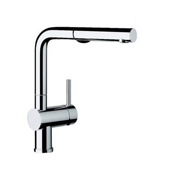 Blanco 441430 Linus Pull-Out, Swivel Single Hole Kitchen Faucet in Polished Chrome