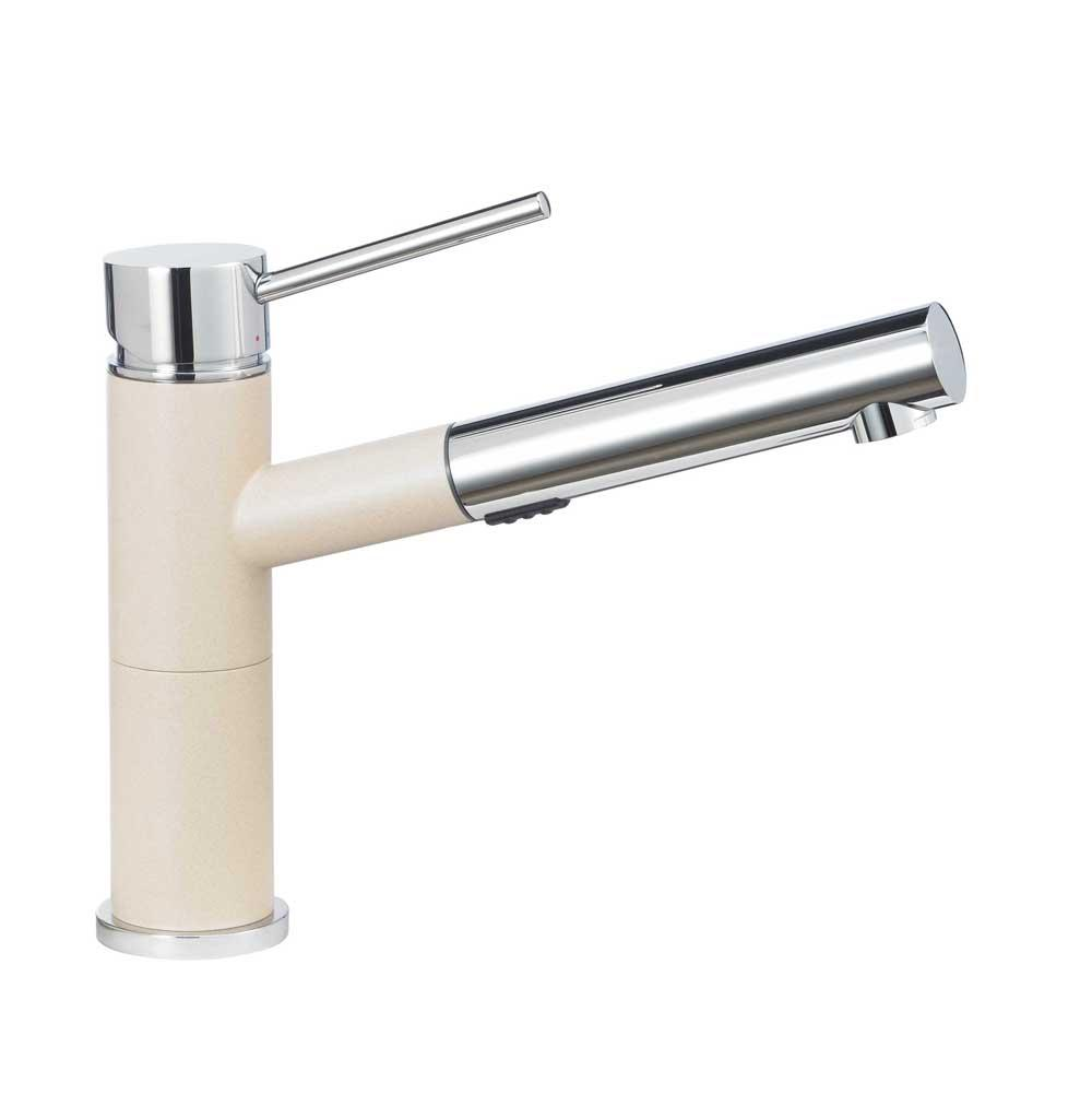 Blanco 441485 Alta Compact Pull-out Dual Kitchen Faucet in Biscotti