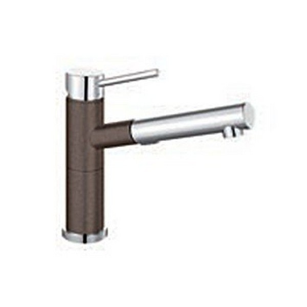 Blanco 441618 Alta Pull-Out, Swivel Single Hole Kitchen Faucet in Cafe Brown