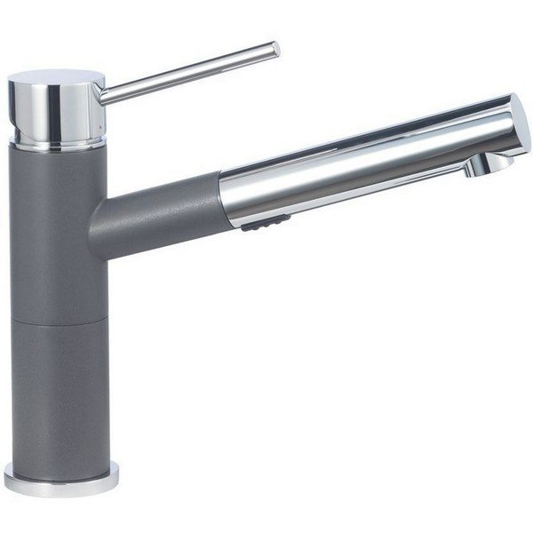 Blanco 441619 Alta Pull-Out, Swivel Single Hole Kitchen Faucet in Cinder