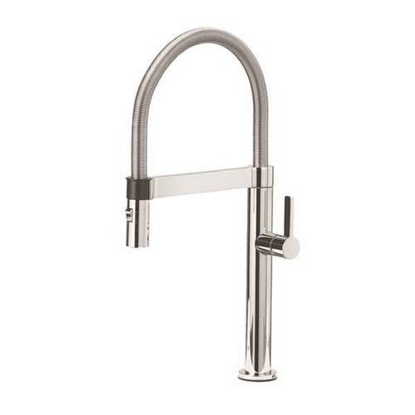 Blanco 441622 Culina Pull-down, Swivel Single Hole Kitchen Faucet in Polished Chrome