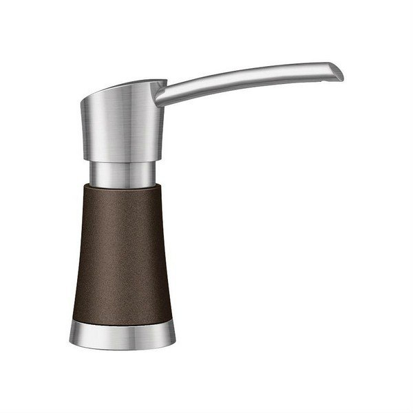 BLANCO 442050 ARTONA SOAP DISPENSER IN CAFE BROWN/STAINLESS DUAL FINISH