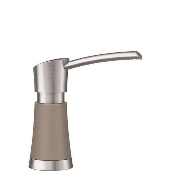 BLANCO 442053 ARTONA SOAP DISPENSER IN TRUFFLE/STAINLESS DUAL FINISH