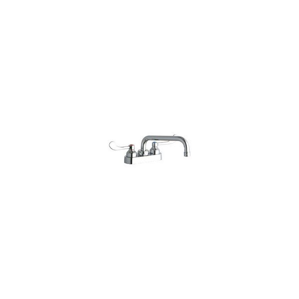 Elkay LK406TS08T4 Deck Mount Faucet with 8 Inch Tube Spout and 4 Inch Handles