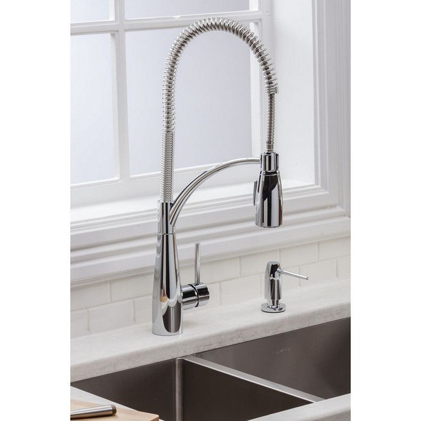 Elkay LKAV4061 Avado Single Hole Kitchen Faucet with Semi-Professional Spout Forward Only Lever Handle
