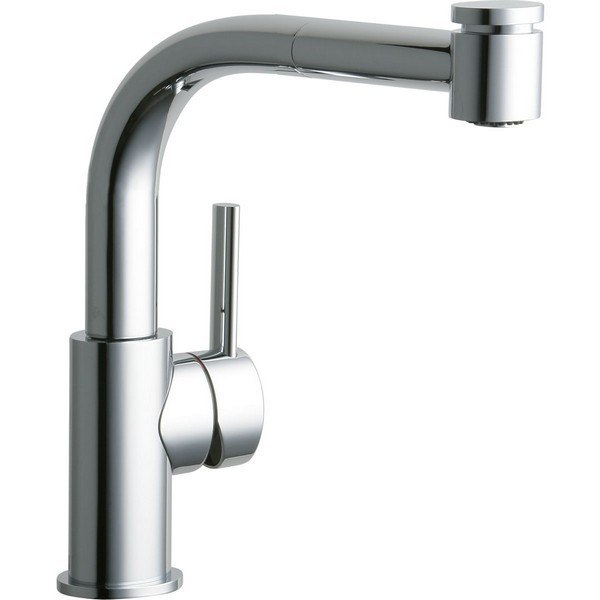 ELKAY LKMY1042 MYSTIC SINGLE HOLE BAR FAUCET WITH PULL-OUT SPRAY AND LEVER HANDLE