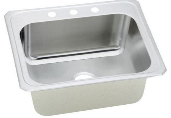 Elkay DCR2522120 Pursuit Stainless Steel 25 L x 22 W x 12-1/4 D Top Mount Laundry/Utility Sink