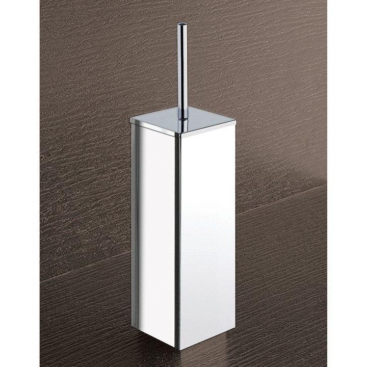 Gedy 3833 13 Kansas Square Chrome Toilet Brush Holder