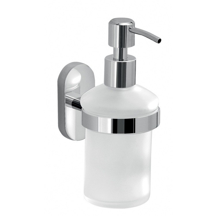 GEDY 5381-13 FEBO WALL MOUNTED FROSTED GLASS SOAP DISPENSER