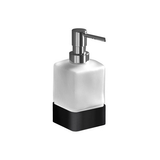 GEDY 5455-M4 LOUNGE SQUARE FROSTED GLASS SOAP DISPENSER