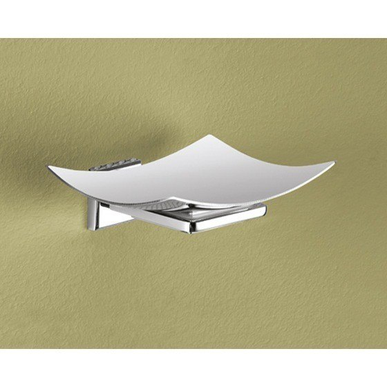 GEDY 6911-01-13 COLORADO WALL MOUNTED CURVED POLISHED CHROME SOAP DISH