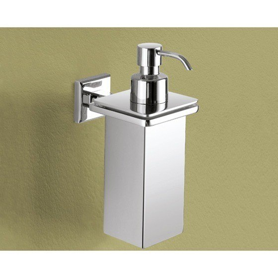 GEDY 6981-01-13 COLORADO WALL MOUNTED SQUARE POLISHED CHROME SOAP DISPENSER