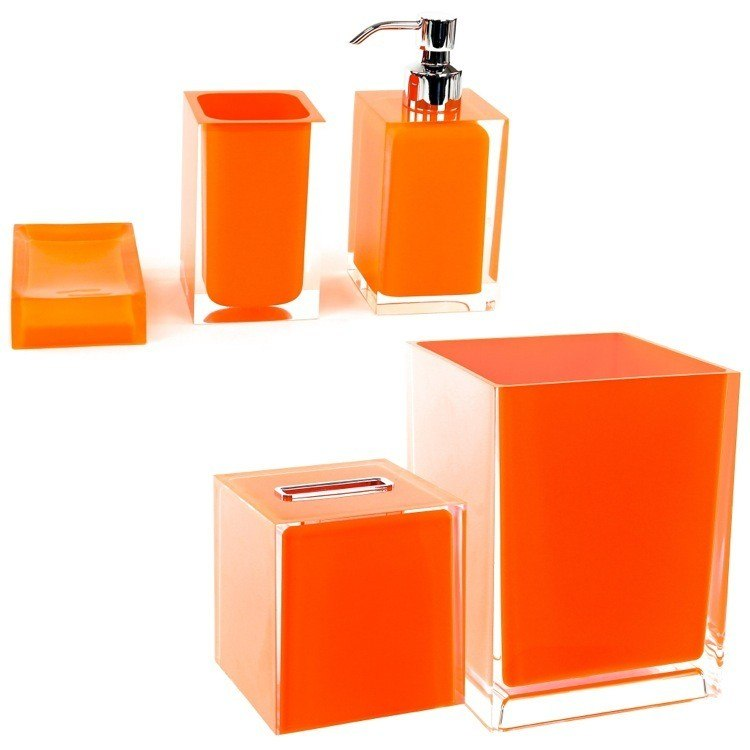GEDY RA2011-67 RAINBOW ORANGE 5 PIECE ACCESSORY SET