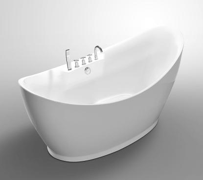 Moreno Bath JL626 67 Inch Free Standing Acrylic Bathtub