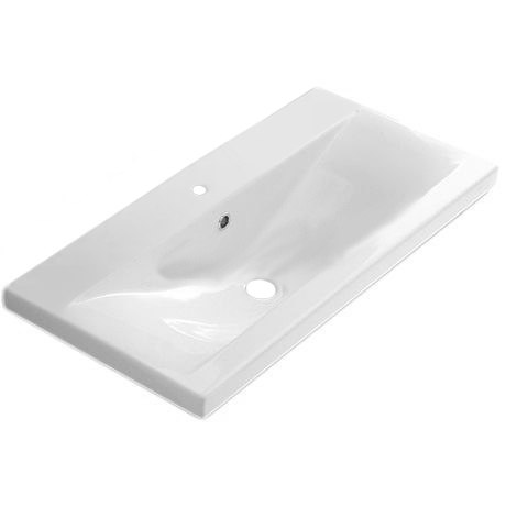 IOTTI LL02 24 INCH WHITE CERAMIC FITTED VANITY SINK