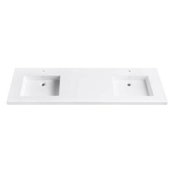 Avanity Vut73wt Versastone 73 Inch Solid Surface Vanity Top With