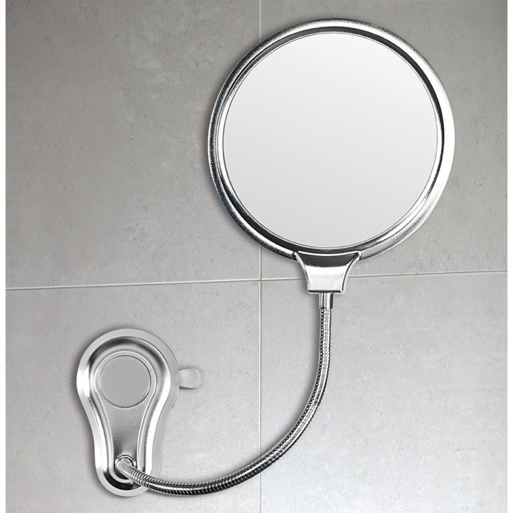 Gedy HO08-13 Hot 2 Faced Shatterproof Polished Steel Bathroom Mirror