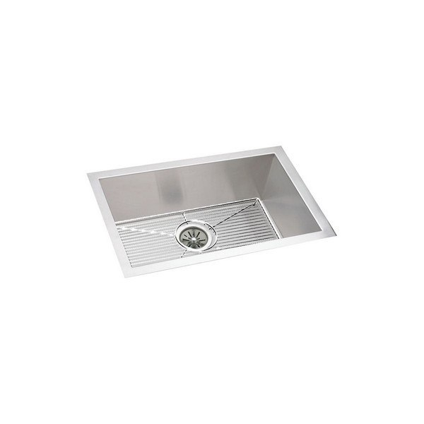 ELKAY EFU211510DBG AVADO 23-1/2 L X 18-1/4 W X 10 D UNDERMOUNT KITCHEN SINK WITH DRAIN AND BOTTOM GRID