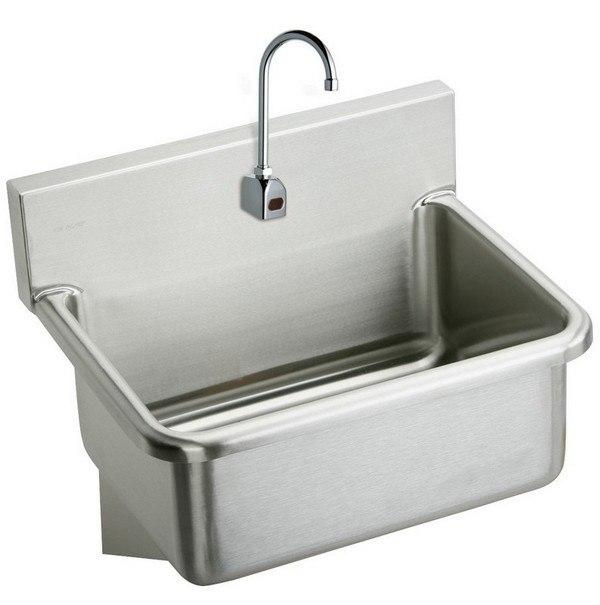 Elkay EWS3120SACC 31 L x 19-1/2 W x 10-1/2 D Wall Hung Single Bowl Hand Wash Sink and Sensor Faucet