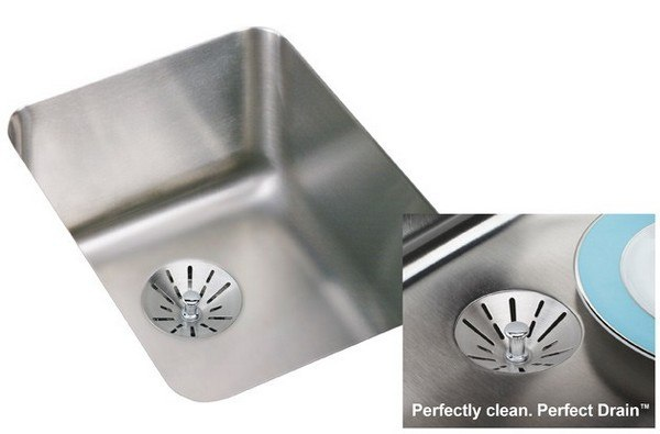 Elkay ELUH1418PDBG 16-1/2 L x 20-1/2 W x 7-7/8 D Undermount Kitchen Sink with Drain and Bottom Grid
