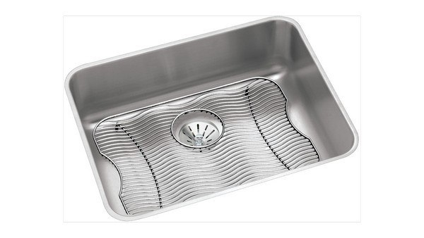 Elkay ELUH2115PDBG 23-1/2 L x 18-1/4 W x 7-1/2 D Undermount Kitchen Sink with Drain and Bottom Grid