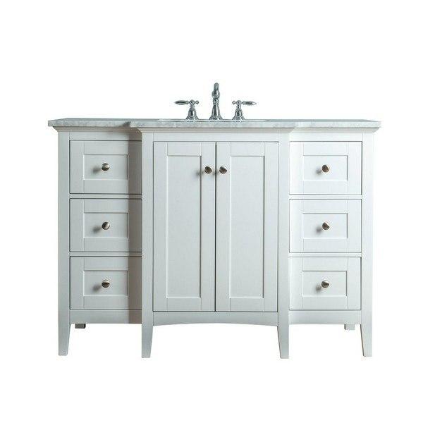 White Single Sink Bathroom Vanity, 48 Single Sink Bathroom Vanity
