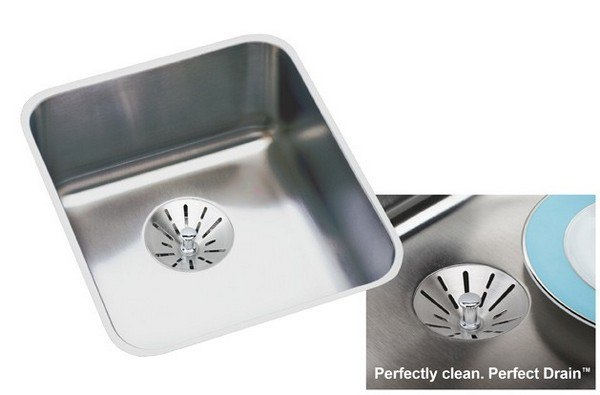 ELKAY ELUHAD131650PD STAINLESS STEEL 16 L X 18-1/2 W X 4-7/8 D UNDERMOUNT KITCHEN SINK WITH PERFECT DRAIN