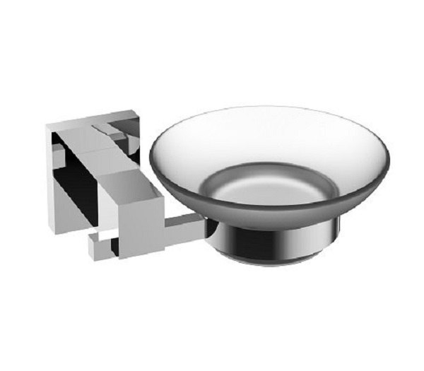 EVIVA EVAC1070 PANERA FROSTED GLASS SOAP DISH, HOLDS AS A WALL MOUNT