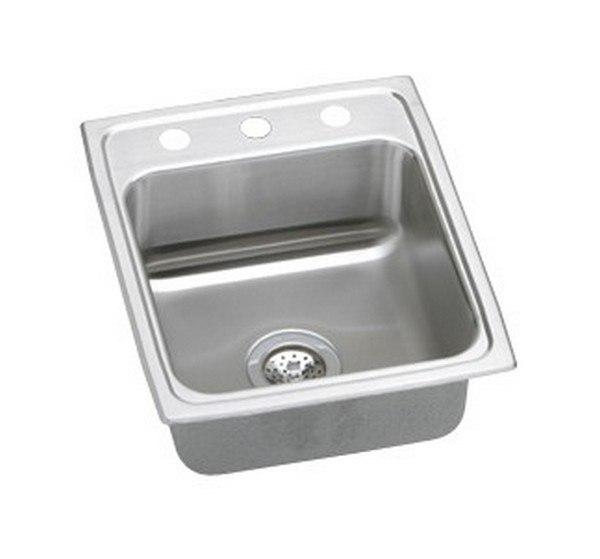 Ukinox Un345 15 Inch Undermount Top Mount Single Bowl Sink
