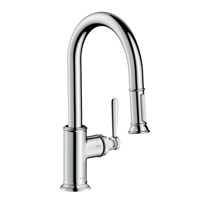 HANSGROHE 16584 AXOR MONTREUX 2-SPRAY PULL-DOWN PREP KITCHEN FAUCET