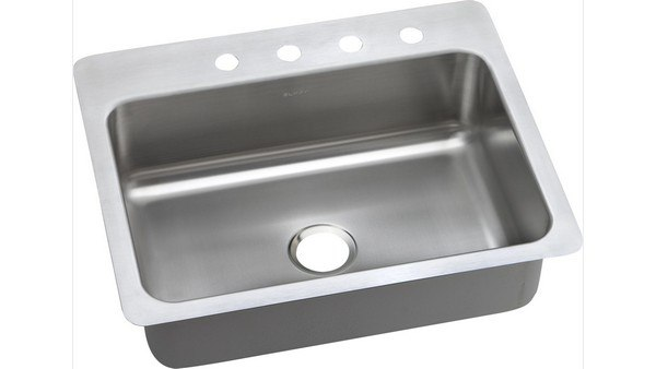 ELKAY DPSSR2722103 PACEMAKER STAINLESS STEEL 27 L X 22 W X 10 D UNIVERSAL MOUNT KITCHEN SINK, 3 FAUCET HOLES