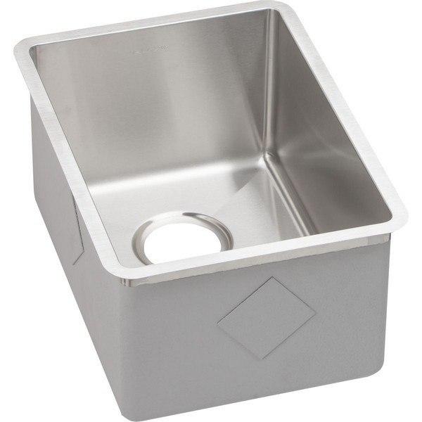 Elkay ECTRU12179 Crosstown Stainless Steel 13-1/2 L x 18-1/2 W x 9 D Undermount Bar Sink