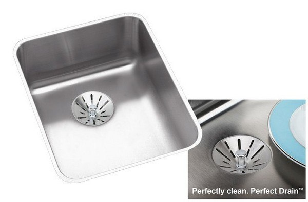 ELKAY ELUHAD141845PD STAINLESS STEEL 16-1/2 L X 20-1/2 W X 4-3/8 D UNDERMOUNT KITCHEN SINK WITH PERFECT DRAIN