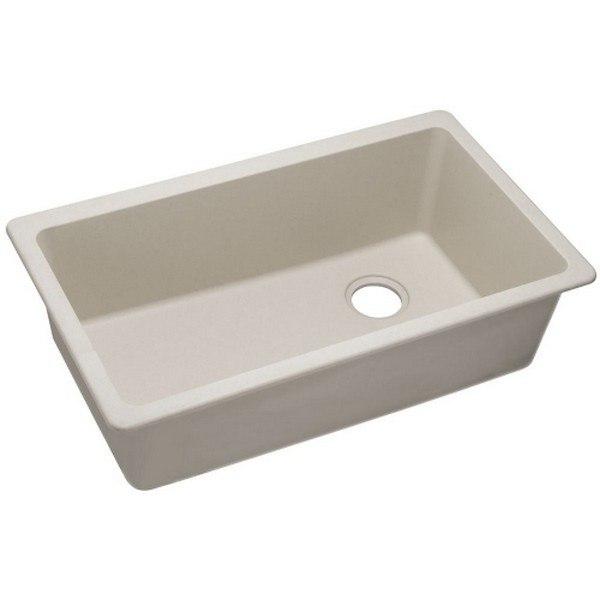Elkay 1000001839 Quartz Classic 33'' x 18-3/4'' x 9-1/2'' Undermount Sink in in Bisque