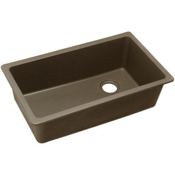 Elkay 1000001841 Quartz Classic 33'' x 18-3/4'' x 9-1/2'' Undermount Sink in Mocha