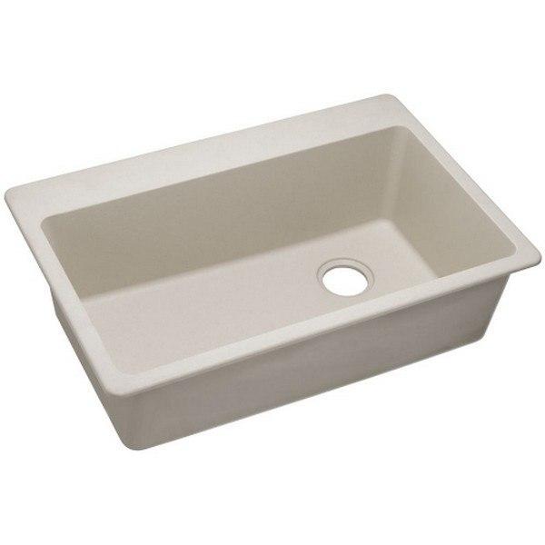 Elkay 1000001844 Quartz Classic 33'' x 22'' x 9-1/2'' Top Mount Sink in in Bisque