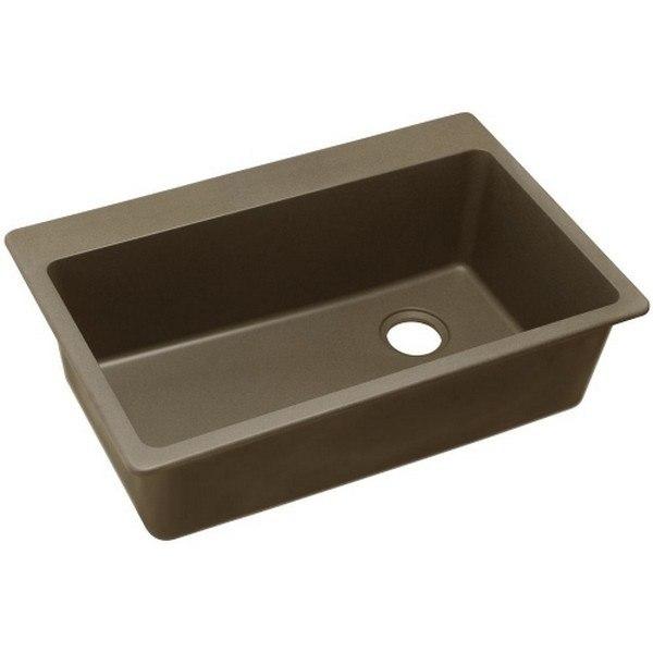 Elkay 1000001846 Quartz Classic 33'' x 22'' x 9-1/2'' Top Mount Sink in Mocha
