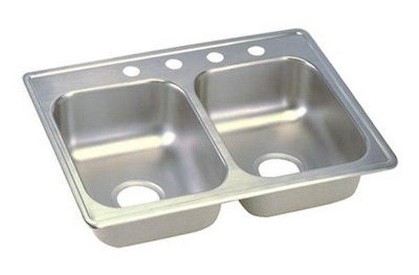 Elkay D225193 Dayton Stainless Steel 25 L x 19 W x 6-1/3 D Double Bowl  Kitchen Sink, 3 Faucet Holes