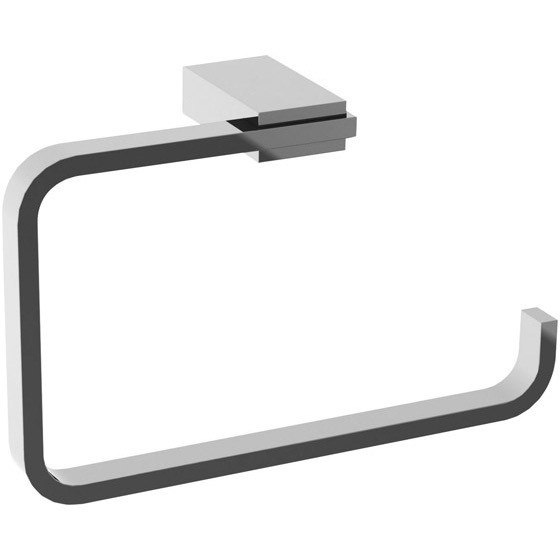 GEDY 3870-13 KANSAS SQUARE POLISHED CHROME TOWEL RING