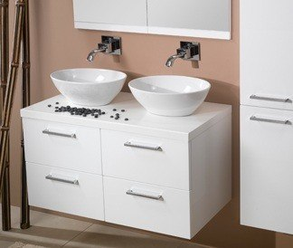 IOTTI 2XAN01/AN02/AN0031 AURORA COLLECTION W. 37.2 INCH COMBINED VANITIES