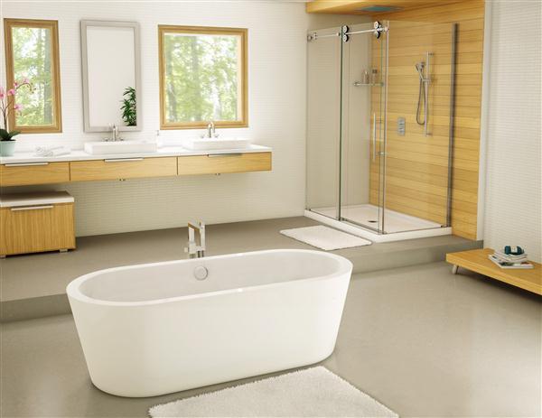 Fleurco BAD6831-18 Aria Adagio 68-3/4 Inch Lucite Acrylic Bathtub