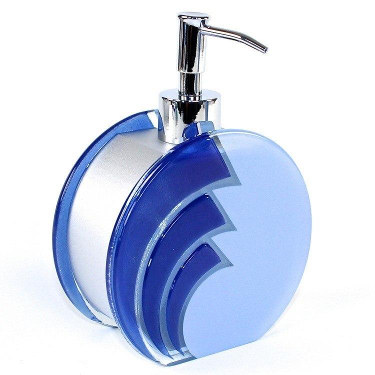 GEDY LO81-11 LOTO UNIQUE BLUE GLASS COUNTERTOP SOAP DISPENSER